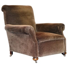 Art Deco circa 1920 Gentlemans Club Armchair in Bauhaus Style Fabric Lovely Find