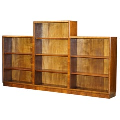 Art Deco circa 1920s Walnut Open Dwarf Bookcase Stunning Timber