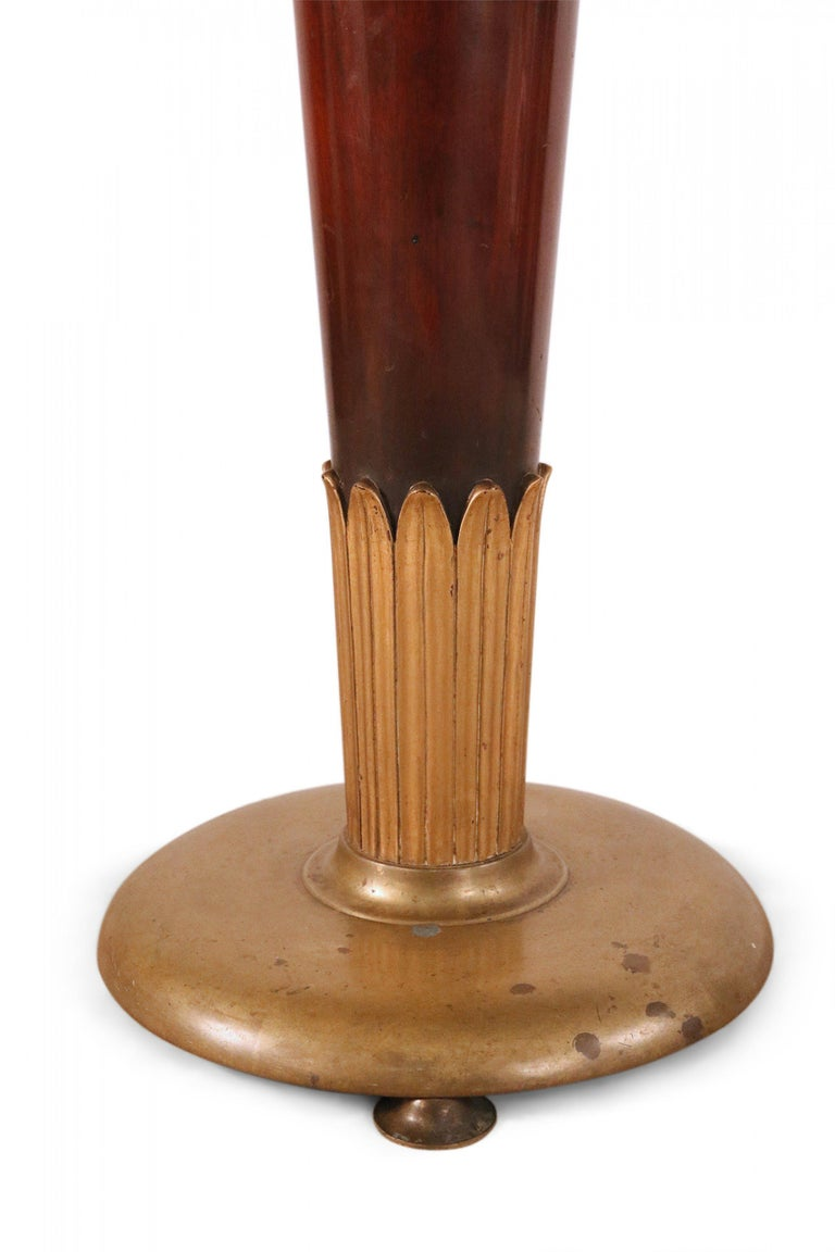 Art Deco Circular Mahogany and Brass End / Side Table For Sale 1