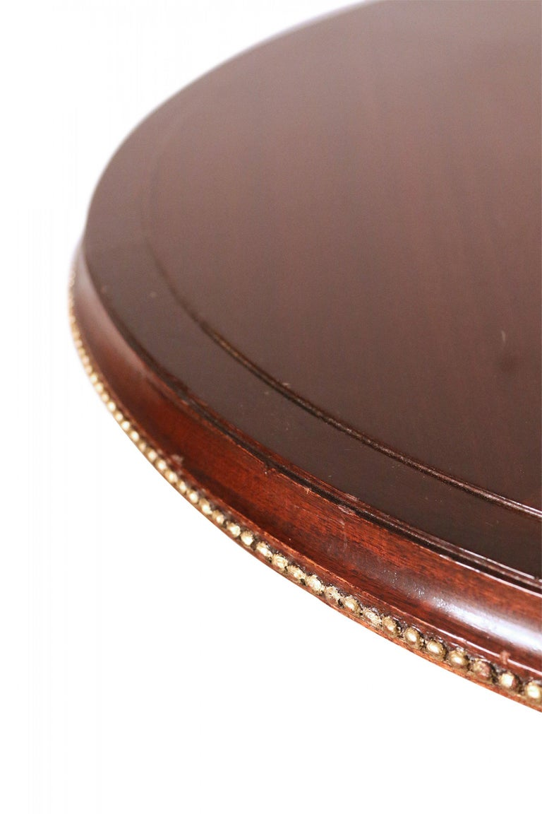 Art Deco Circular Mahogany and Brass End / Side Table For Sale 2
