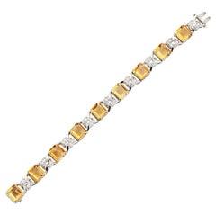 Art Deco Citrine and Diamond Bracelet by JE Caldwell