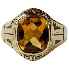 Art Deco Citrine Men's Ring