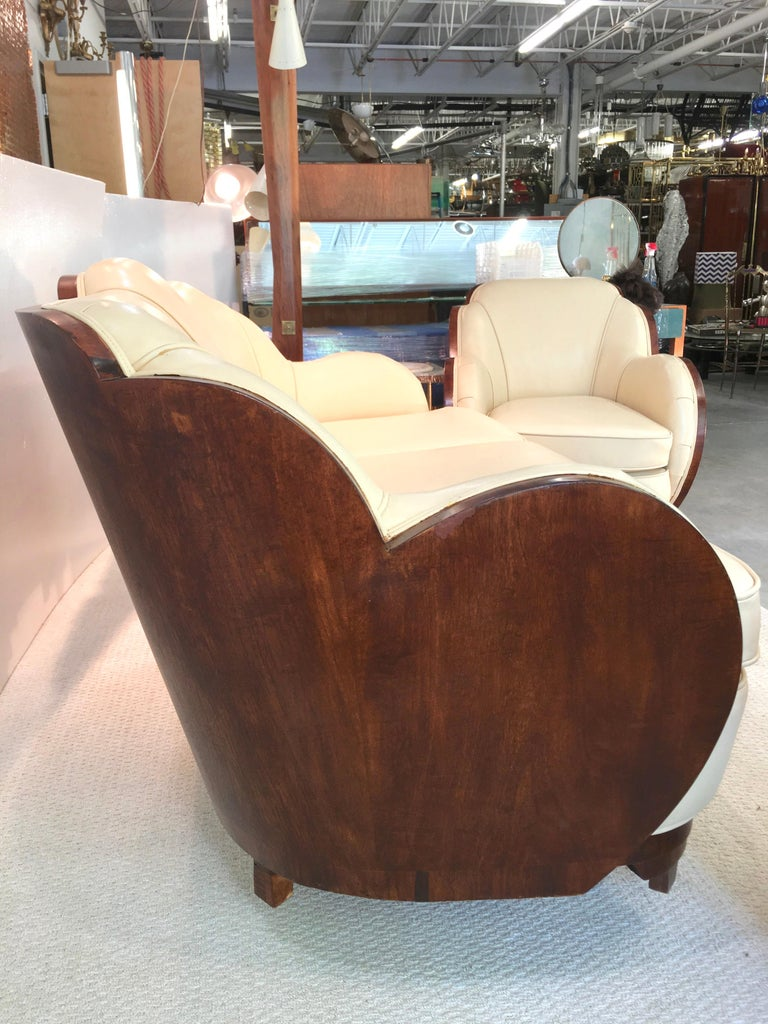 Art Deco Cloud Lounge Suite by H & L Epstein For Sale 10