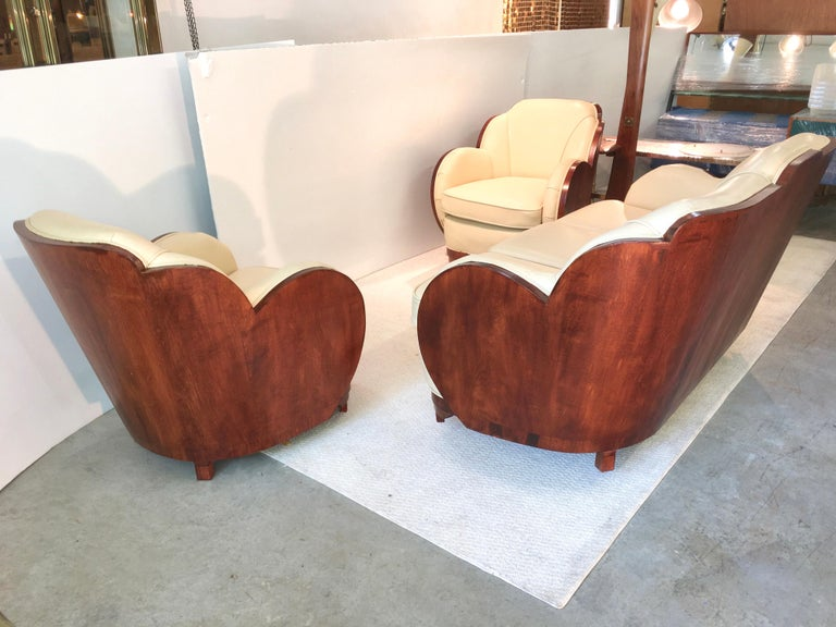 Art Deco Cloud Lounge Suite by H & L Epstein In Good Condition For Sale In Hingham, MA