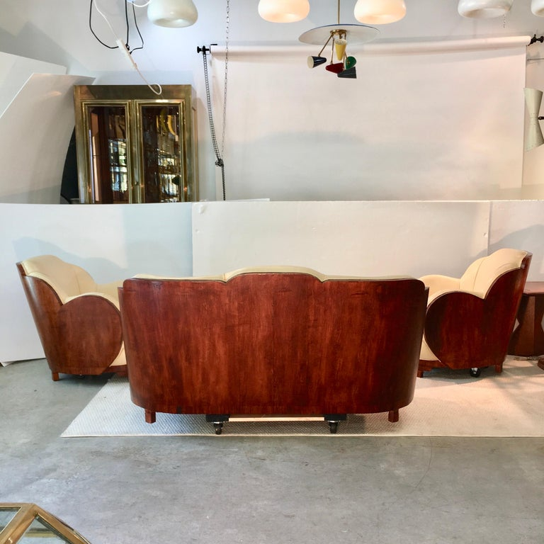 Mid-20th Century Art Deco Cloud Lounge Suite by H & L Epstein For Sale