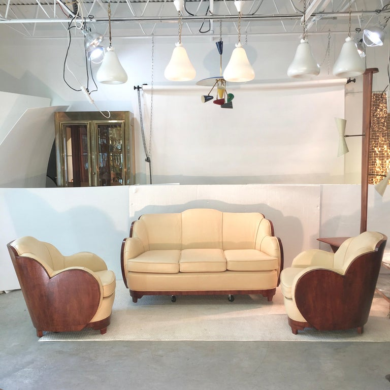 Art Deco Cloud Lounge Suite by H & L Epstein For Sale 1