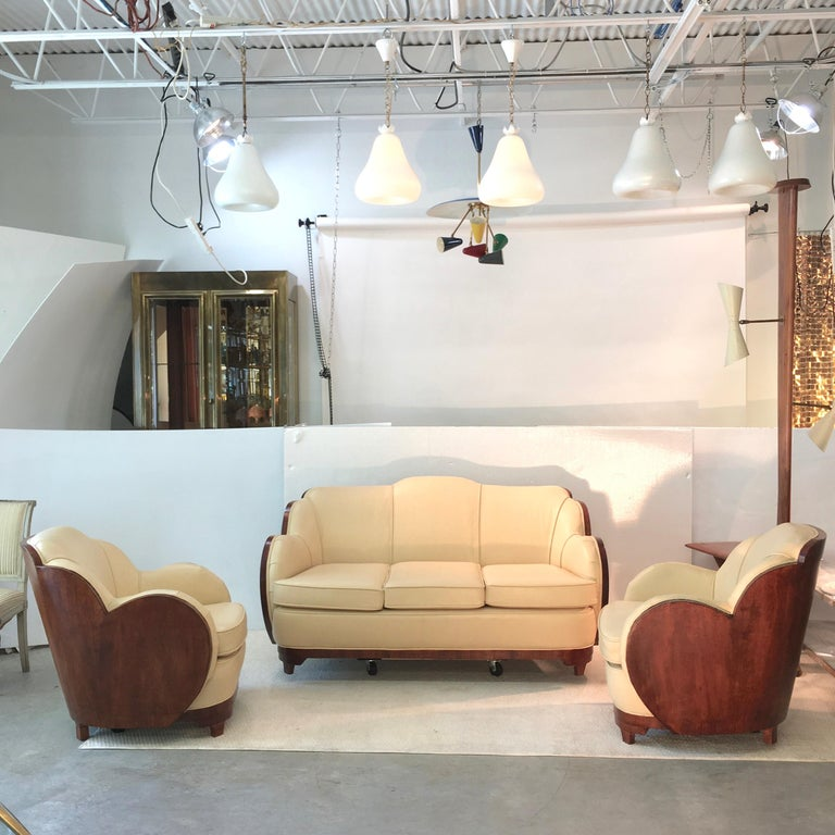 Art Deco Cloud Lounge Suite by H & L Epstein For Sale 2