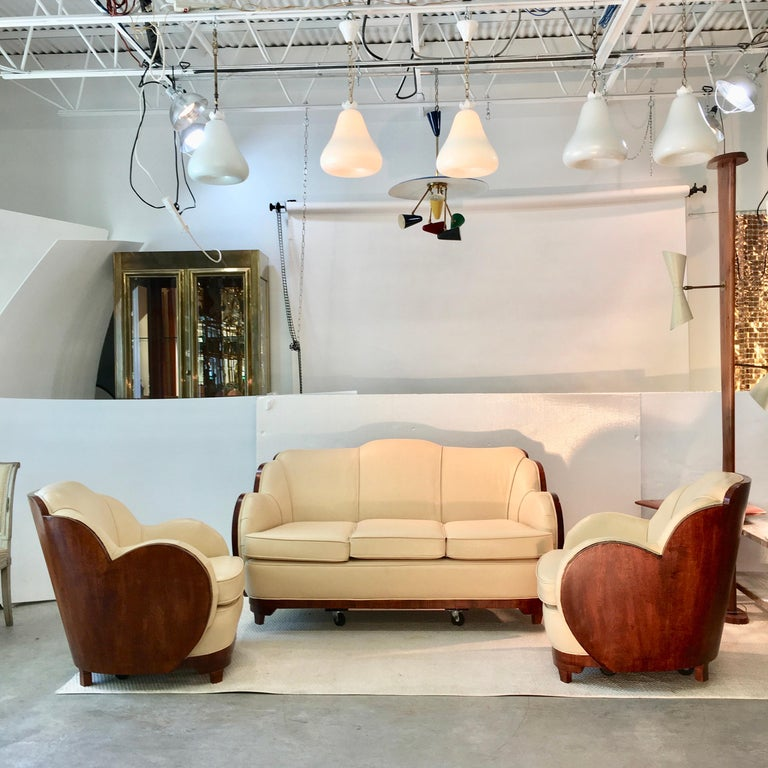 Art Deco Cloud Lounge Suite by H & L Epstein For Sale 3