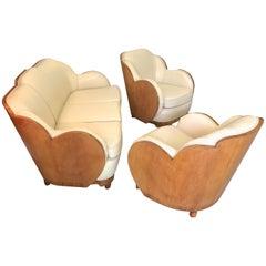 Art Deco Cloud Lounge Suite by H & L Epstein