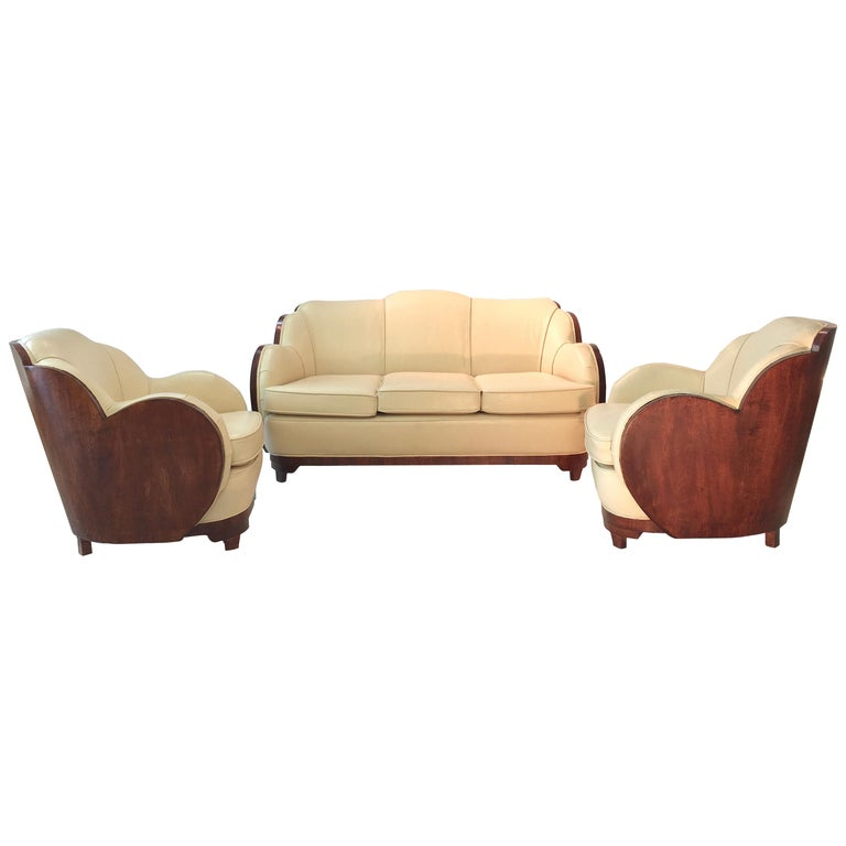 Art Deco Cloud Lounge Suite by H & L Epstein For Sale