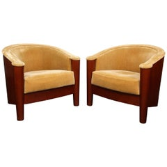 Set of 4 Art Deco Club Chairs