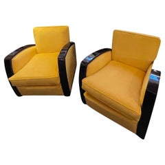 Art Deco Club Chairs French Style