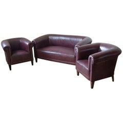 Art Deco Club Furniture Set from 1910