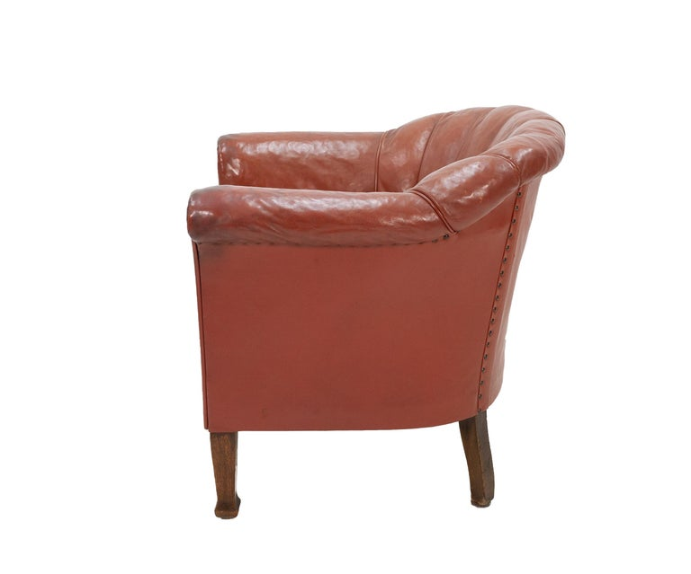 Early 20th Century Art Deco Club Lounge Chair For Sale