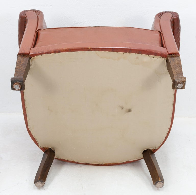 Art Deco Club Lounge Chair For Sale 3