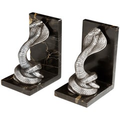 Art Deco 'Cobra' Bookends