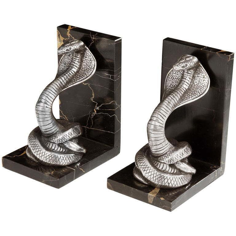 Art Deco 'Cobra' Bookends  For Sale