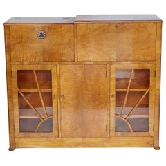 Art Deco Cocktail and Secretaire Cabinet English, circa 1940