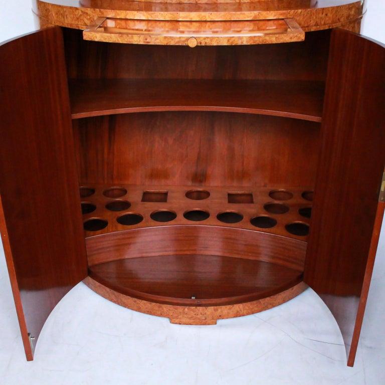 Art Deco Cocktail Cabinet by Harry & Lou Epstein Burr Walnut Veneer, circa 1930 For Sale 1