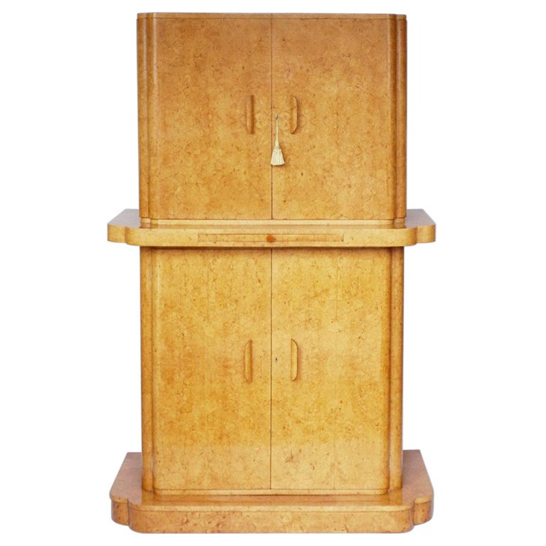 Art Deco Cocktail Cabinet by Harry & Lou Epstein English, Circa 1930 For Sale