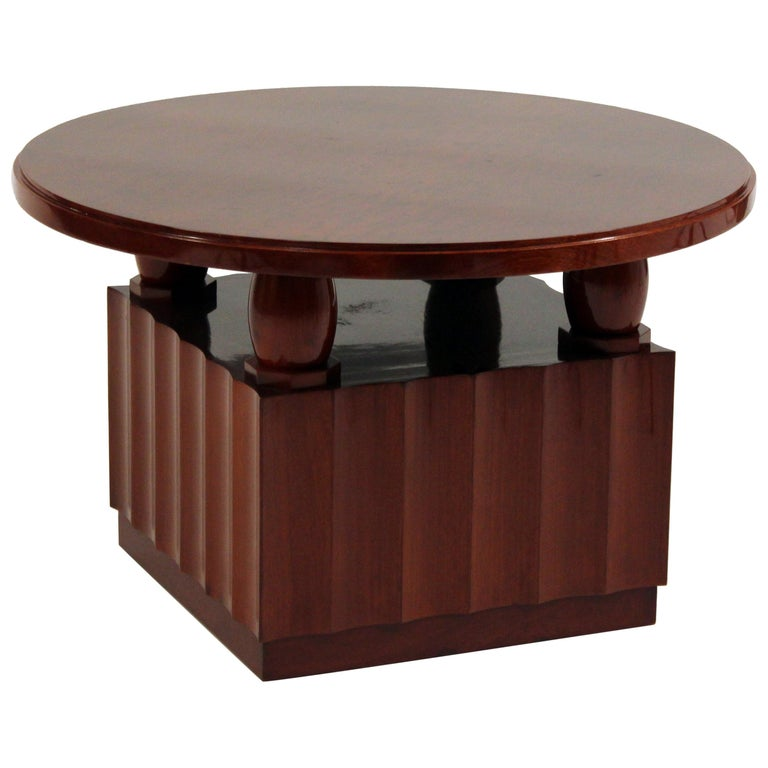 Art Deco Coffee Table by Jules Deroubaix For Sale