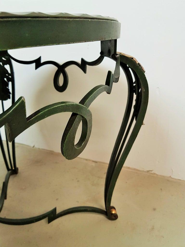 Art Deco Coffee Table with Églomisé Mirror by René Drouet, France, 1940 For Sale 11