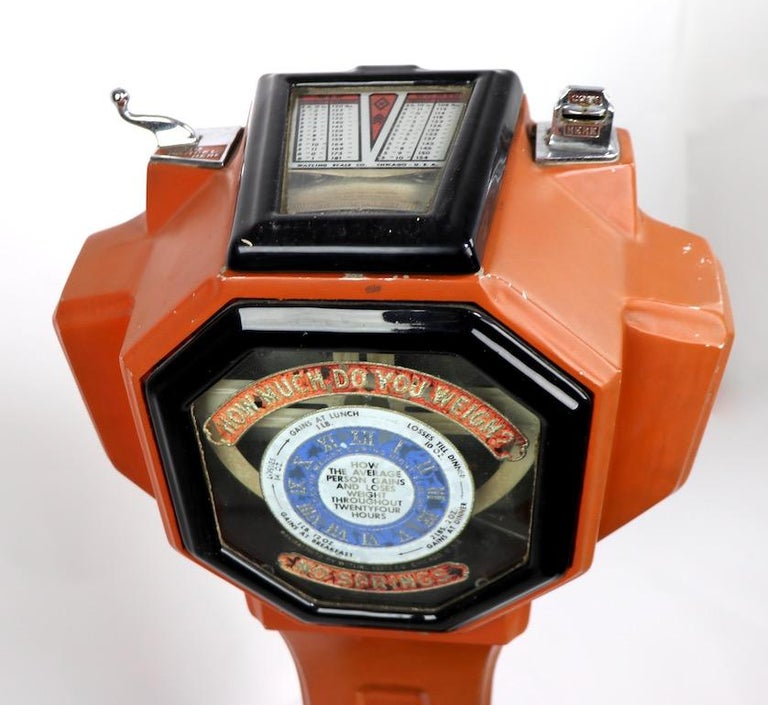 Art Deco Coin Operated Scale by Watling of Chicago For Sale 3