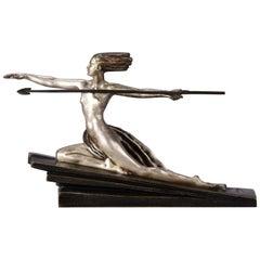 Art Deco Cold Painted Austrian Bronze Figure 'Amazonian' by Marcel Bouraine