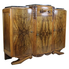 Art Deco Commode Buffet Hand Carved, France, circa 1925