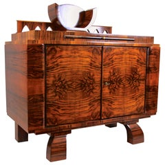 Art Deco Commode Sideboard Nut Wood, Austria, circa 1925