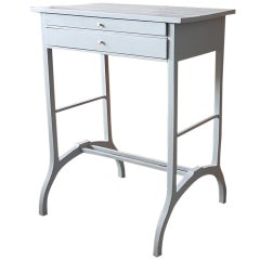 Art Deco Console / Dressing Table from Poland Refinished in Light Grey, 1930s