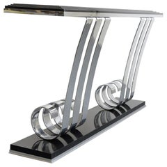 Art Deco Console Table in the Manner of Raymond Subes