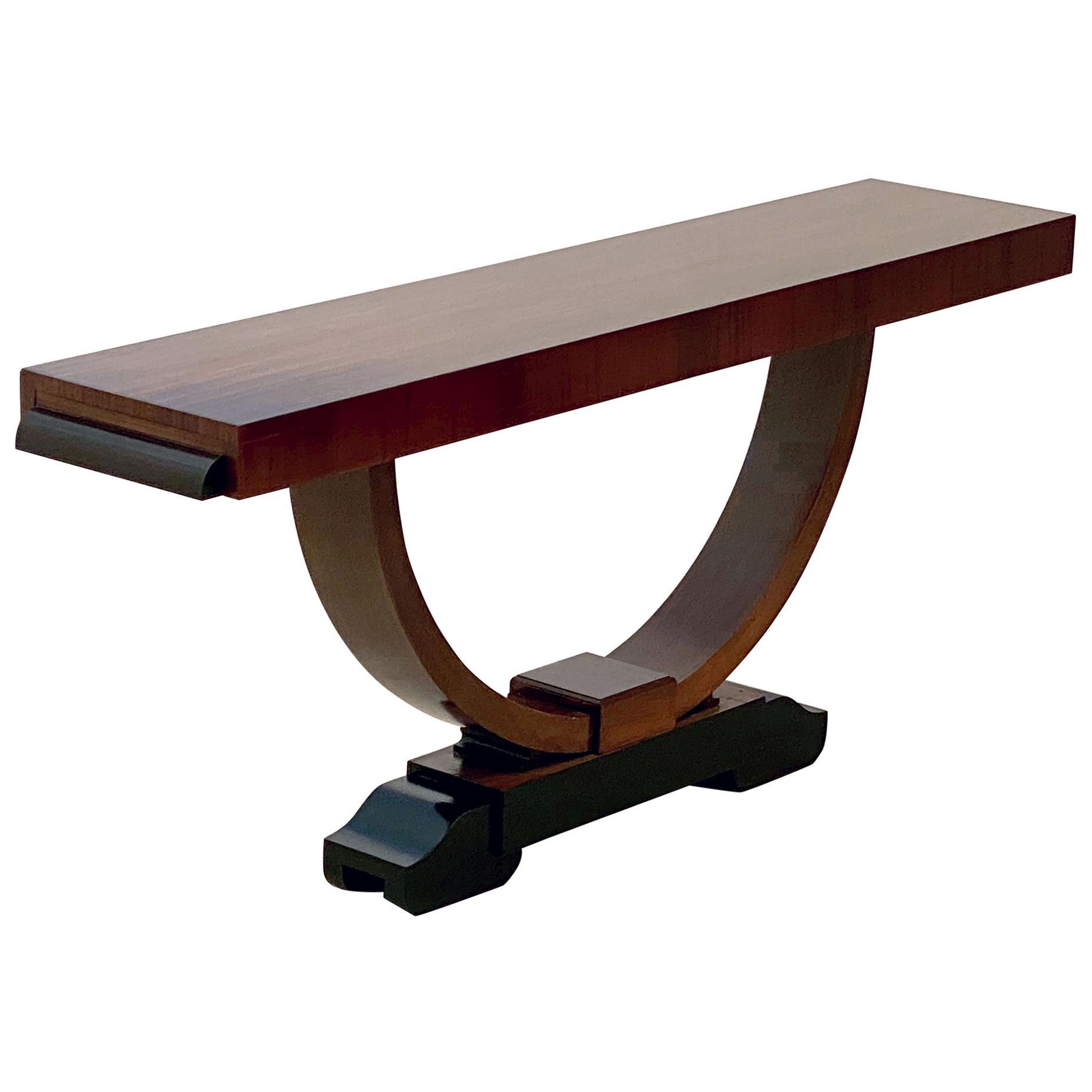 Art Deco Console Table of Mahogany from England