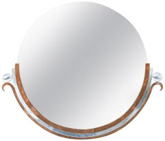 Art Deco Copper and Nickel Mirror