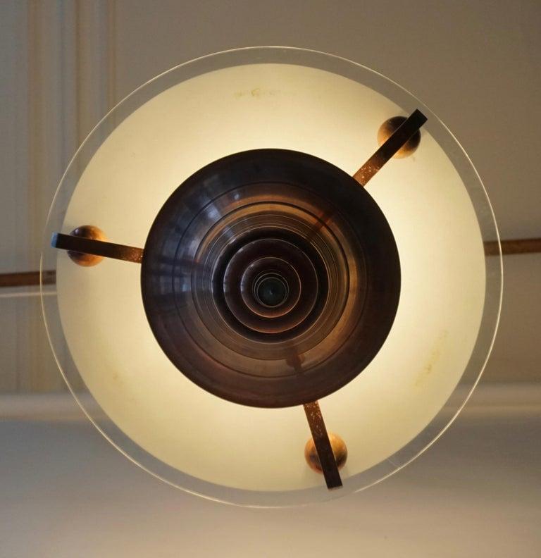 Art Deco Copper Pendant Chandelier For Sale 1
