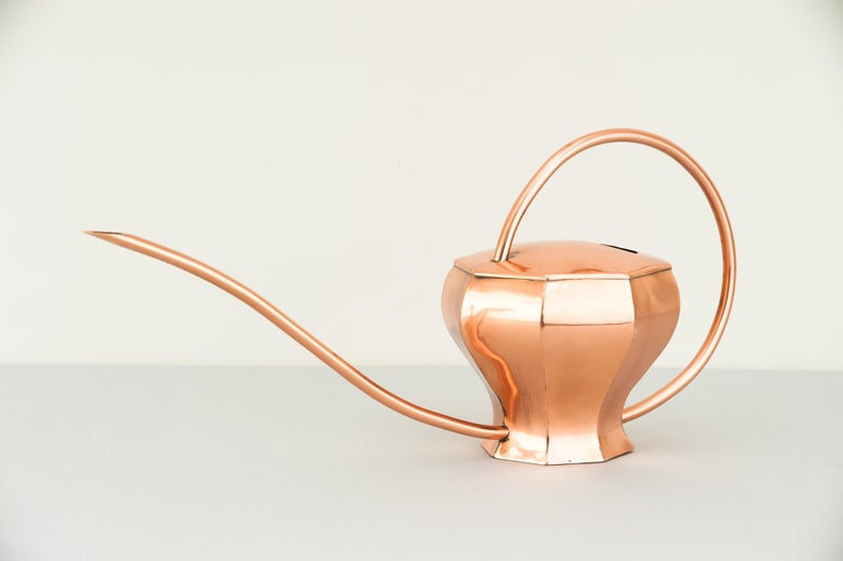 Lacquered Art Deco Copper Watering Can, 1930s For Sale