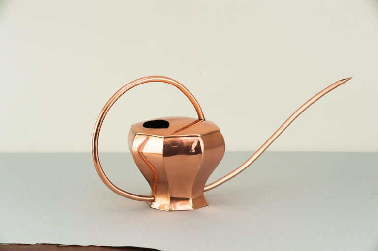 Art Deco Copper Watering Can, 1930s In Excellent Condition For Sale In Wien, AT