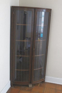 Art Deco Corner  Glass Cabinet