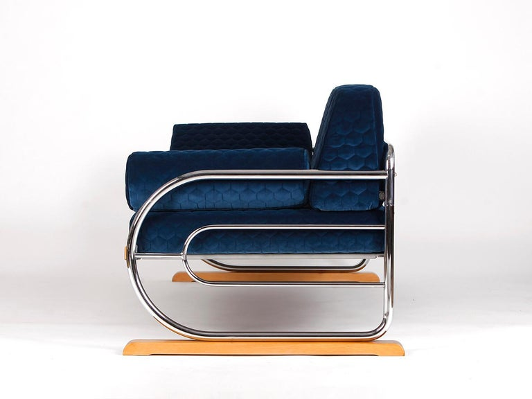 Czech Art Deco Couch Daybed Von Hynek Gottwald, 1930s For Sale