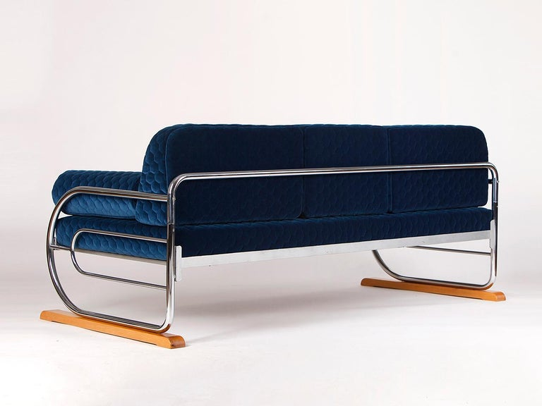 Art Deco Couch Daybed Von Hynek Gottwald, 1930s In Excellent Condition For Sale In Wien, AT