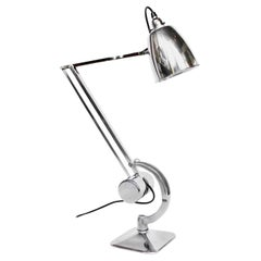 Hadrill & Horstmann Art Deco Counterpoise Desk Lamp Chromed and Polished Metal