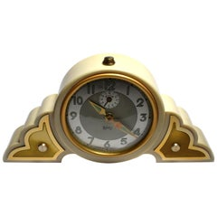 Art Deco Cream Colored Bakelite Odeon Clock