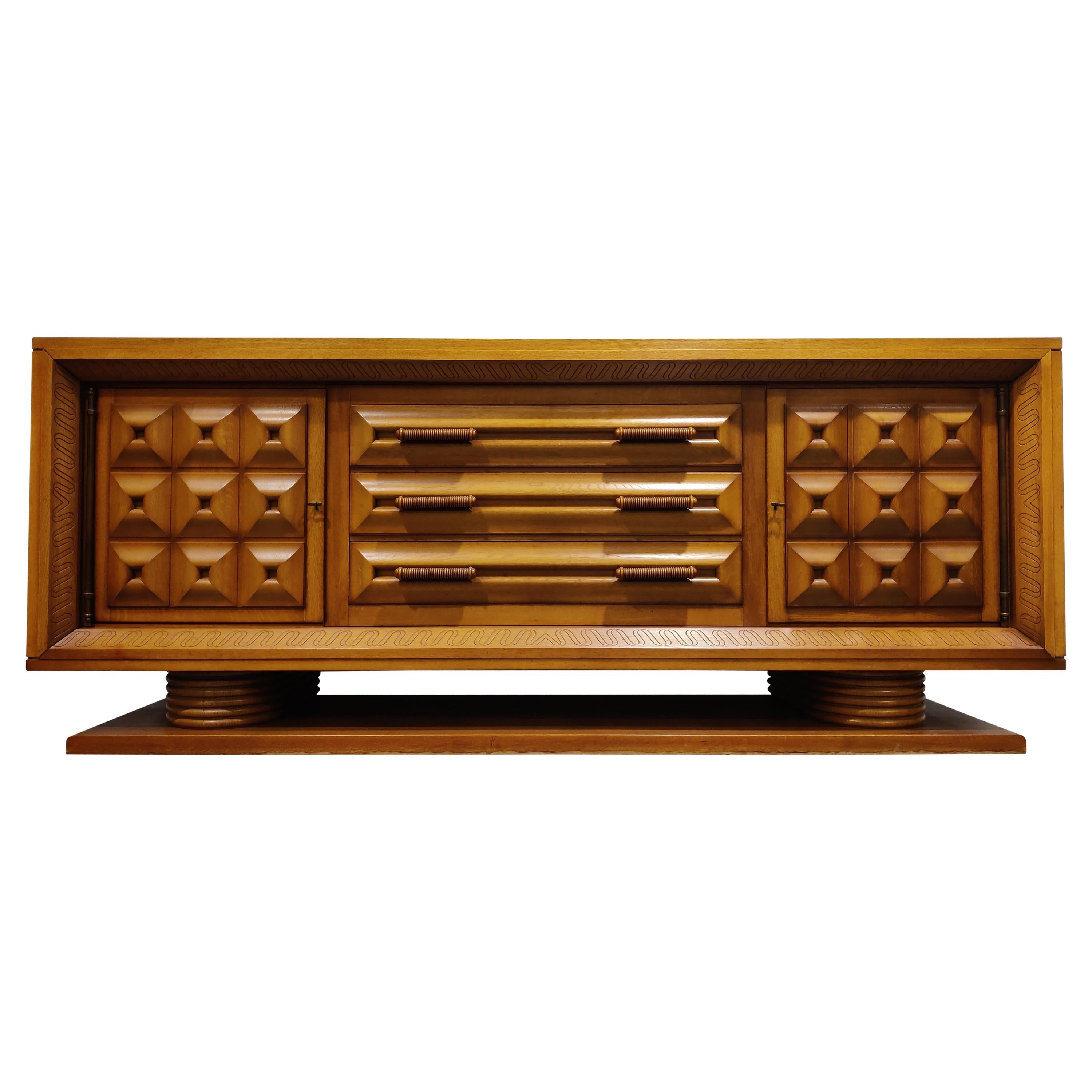 Art Deco Credenza by Charles Dudouyt, 1940s