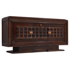 Art Deco Credenza in Darkened Oak by Charles Dudouyt