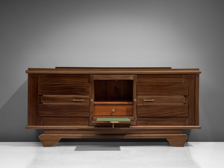 Art Deco Credenza in Mahogany In Good Condition For Sale In Waalwijk, NL