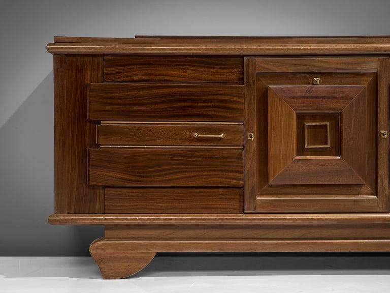 Mid-20th Century Art Deco Credenza in Mahogany For Sale