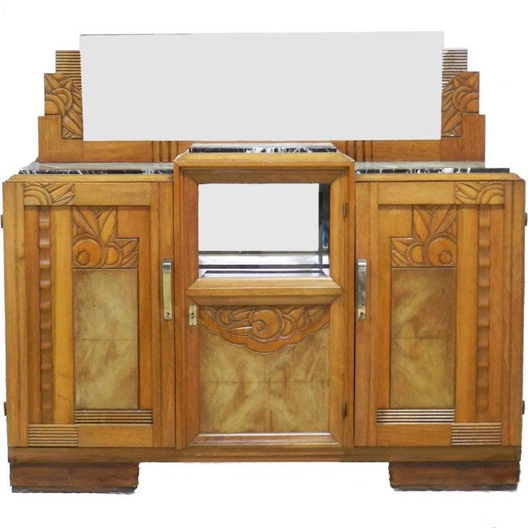 Art Deco Credenza Sideboard French, circa 1930 Sue et Mare Style ...