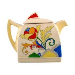 Art Deco Cresta Teapot in Hand Painted Porcelain. Royal Doulton, England