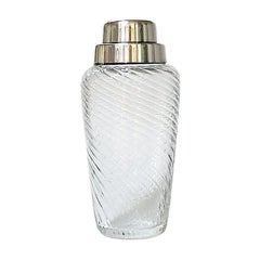 Art Deco Crystal and Silver Plated Cocktail Shaker by WMF