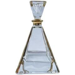 Art Deco Crystal Pyramid Perfume Bottle